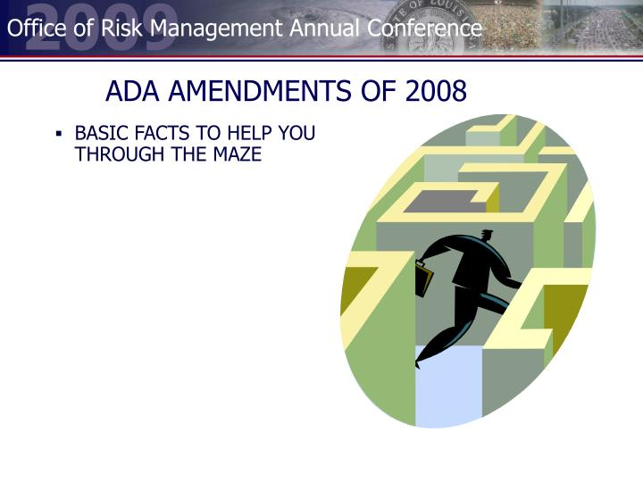 ADA AMENDMENTS OF 2008