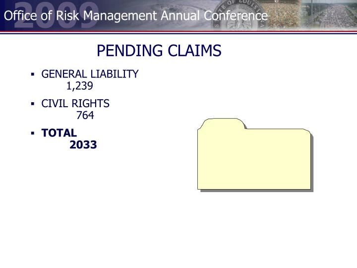 PENDING CLAIMS