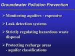 groundwater pollution prevention