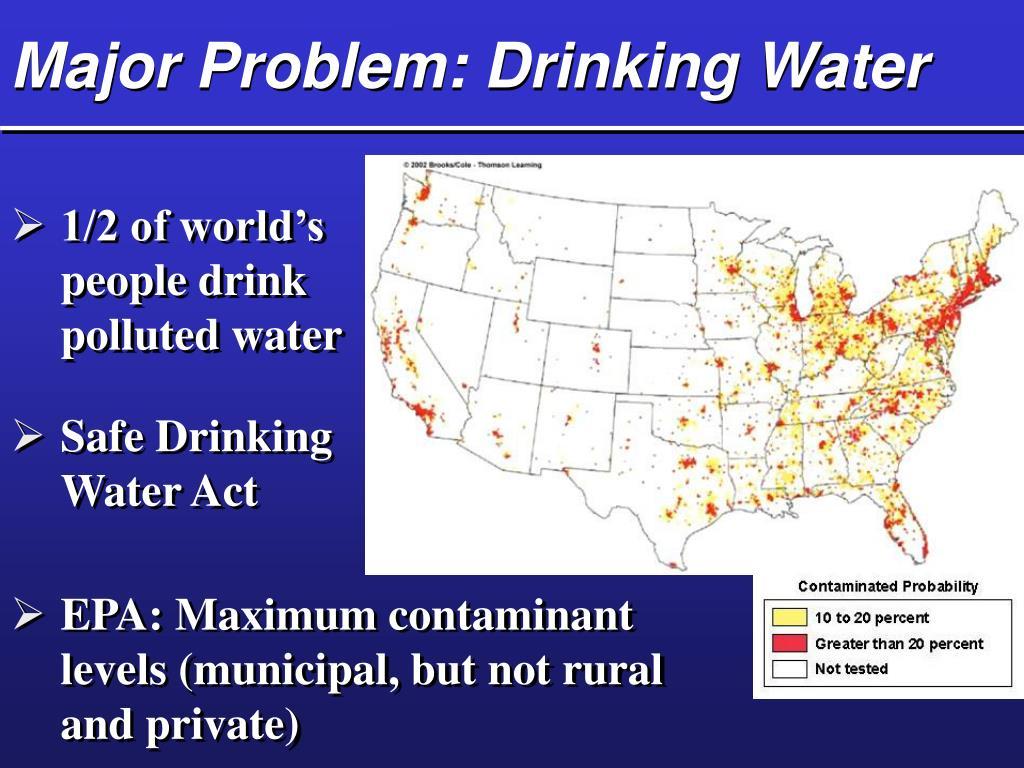 Major Problem: Drinking Water