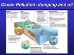 ocean pollution dumping and oil