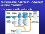technological approach advanced sewage treatment