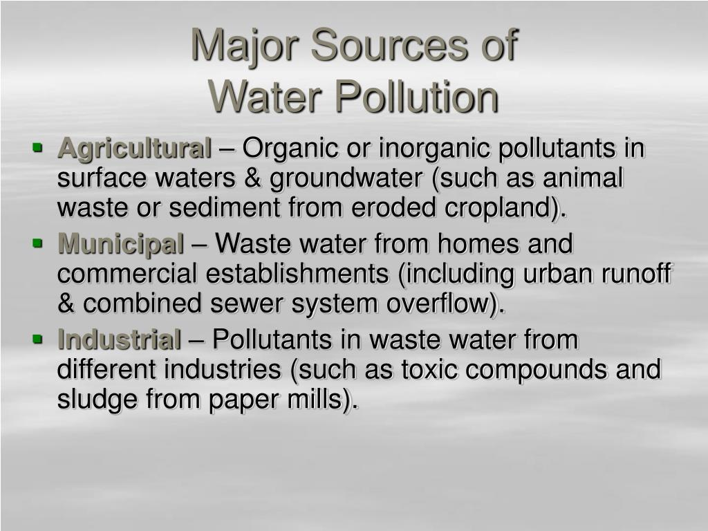 Major Sources of