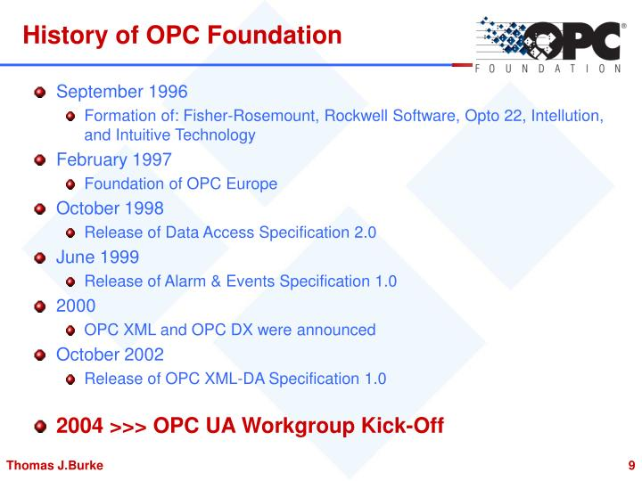History of OPC Foundation