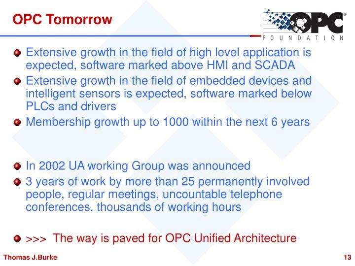 OPC Tomorrow