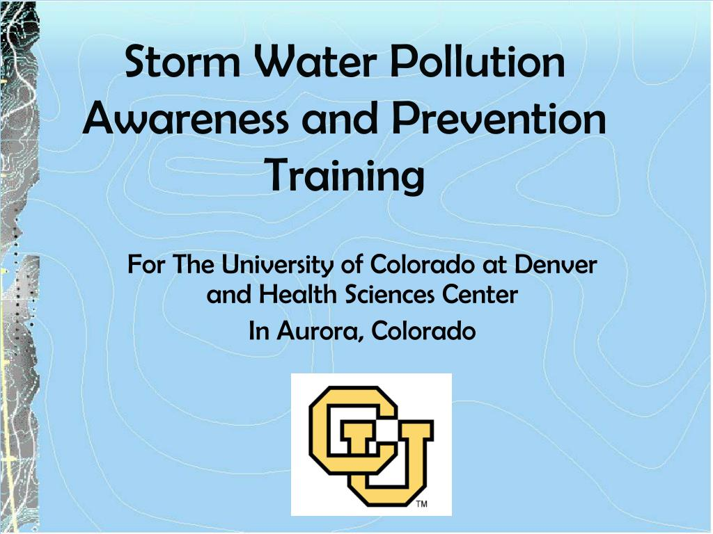 Storm Water Pollution Awareness and Prevention Training