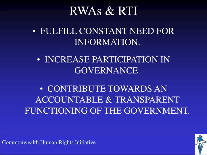 RWAs & RTI