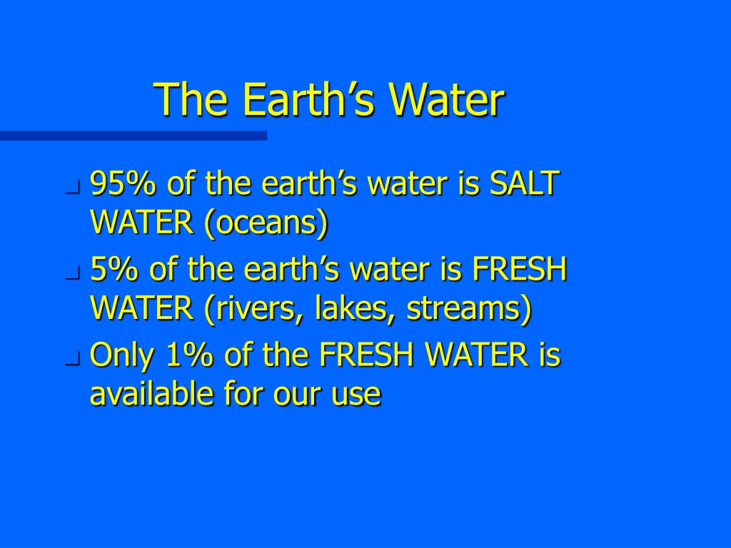The Earth's Water