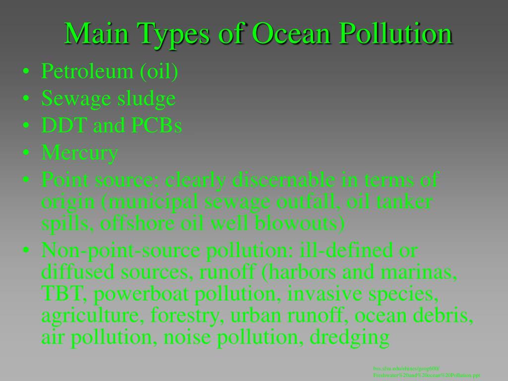 Main Types of Ocean Pollution