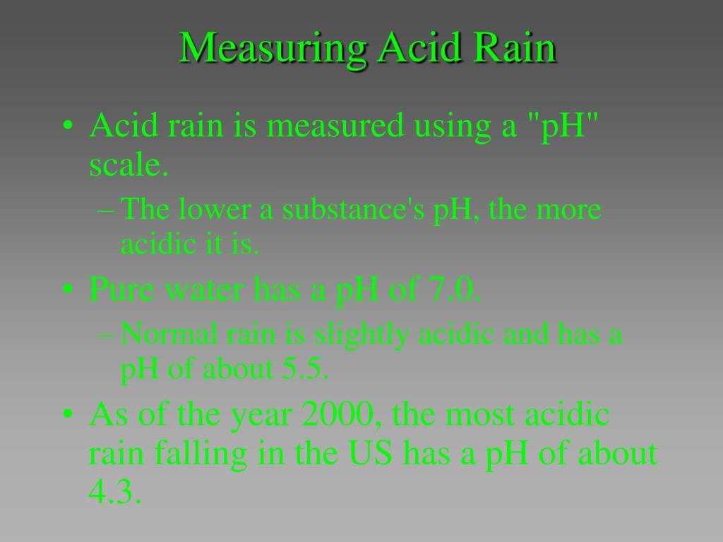 Measuring Acid Rain