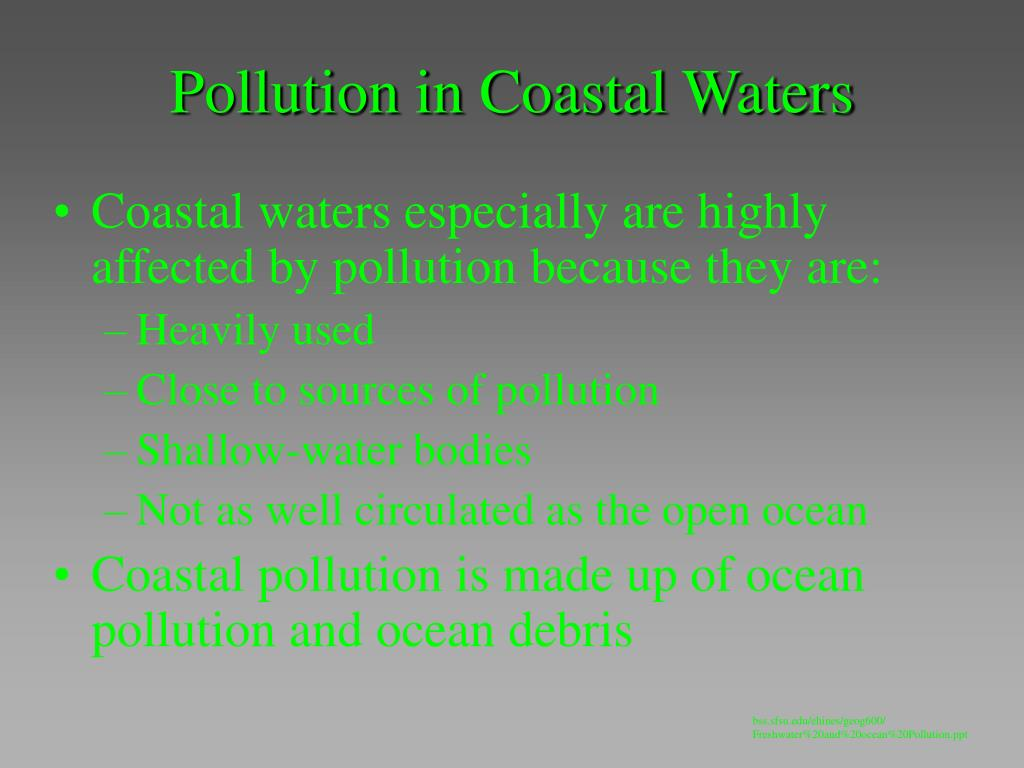 Pollution in Coastal Waters