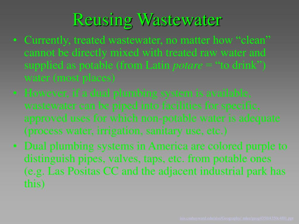 Reusing Wastewater