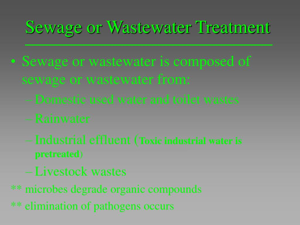 Sewage or Wastewater Treatment