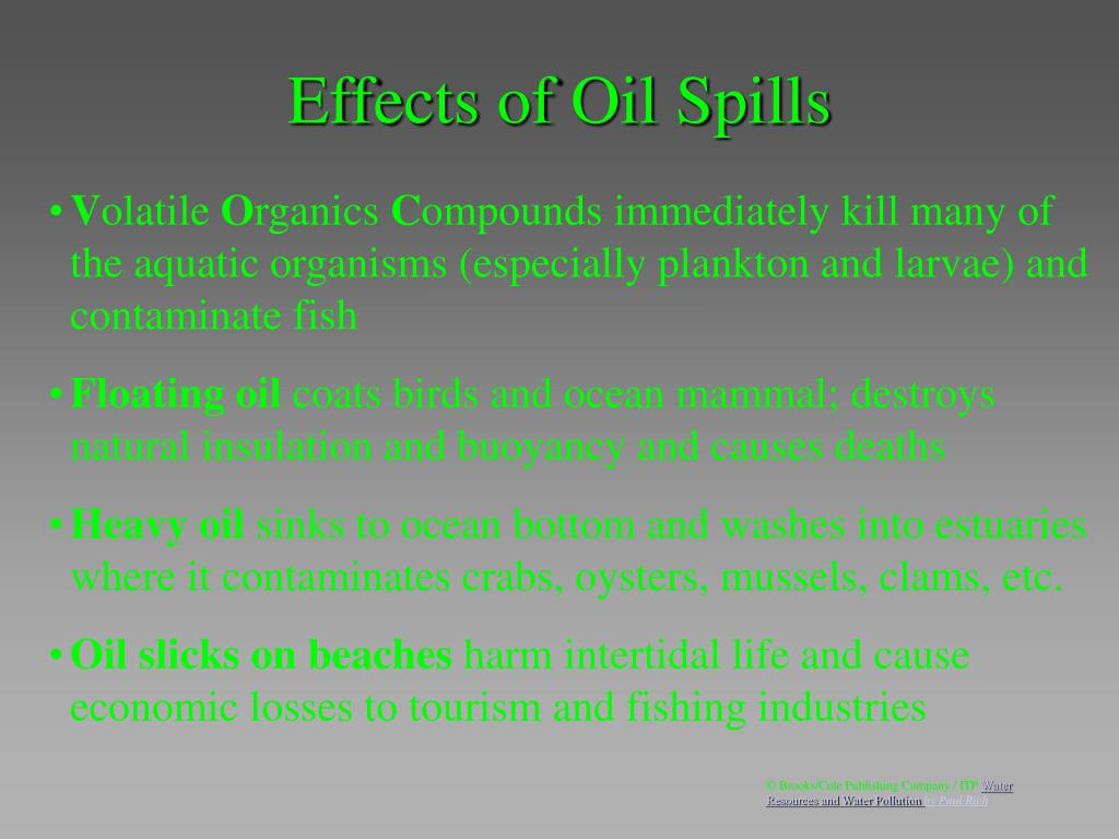 Effects of Oil Spills