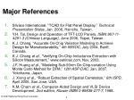 major references