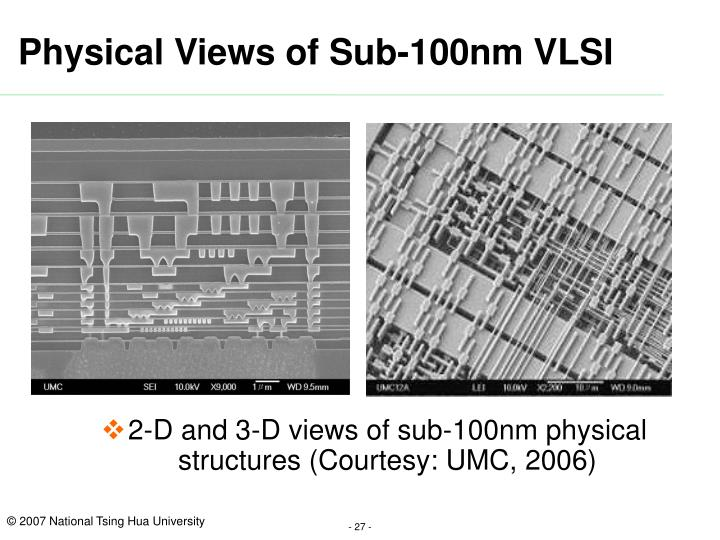 Physical Views of Sub-100nm VLSI