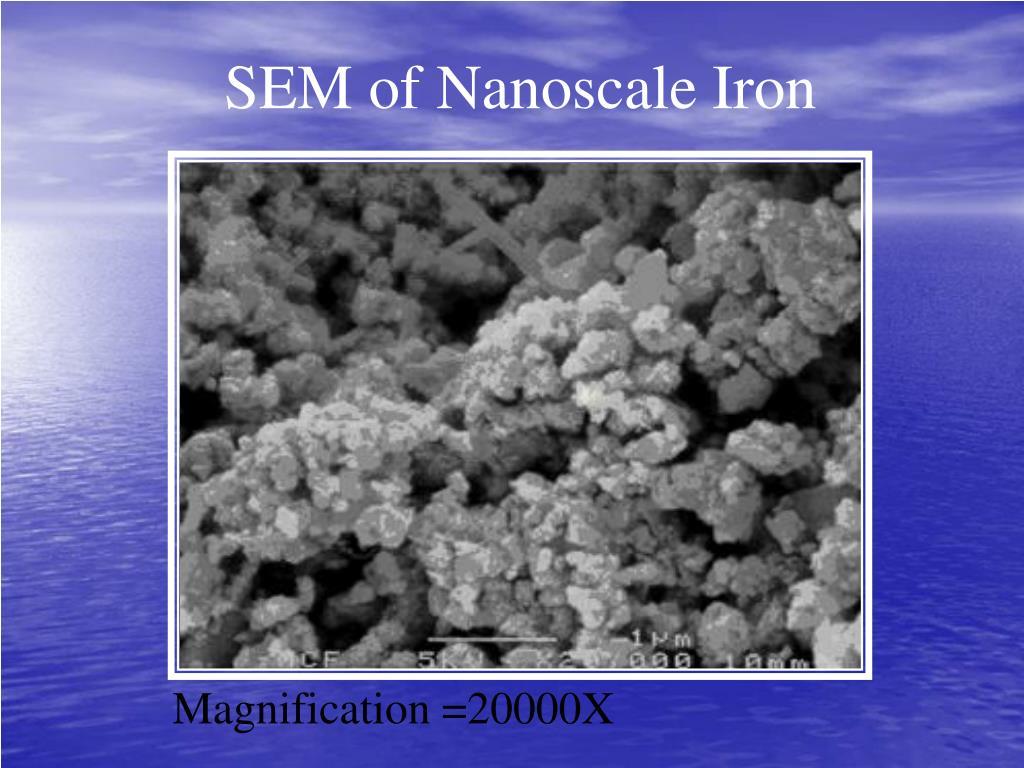 SEM of Nanoscale Iron