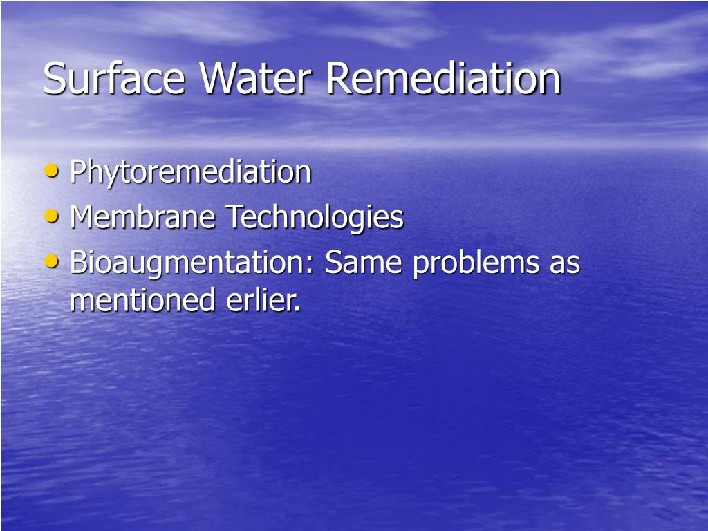 Surface Water Remediation