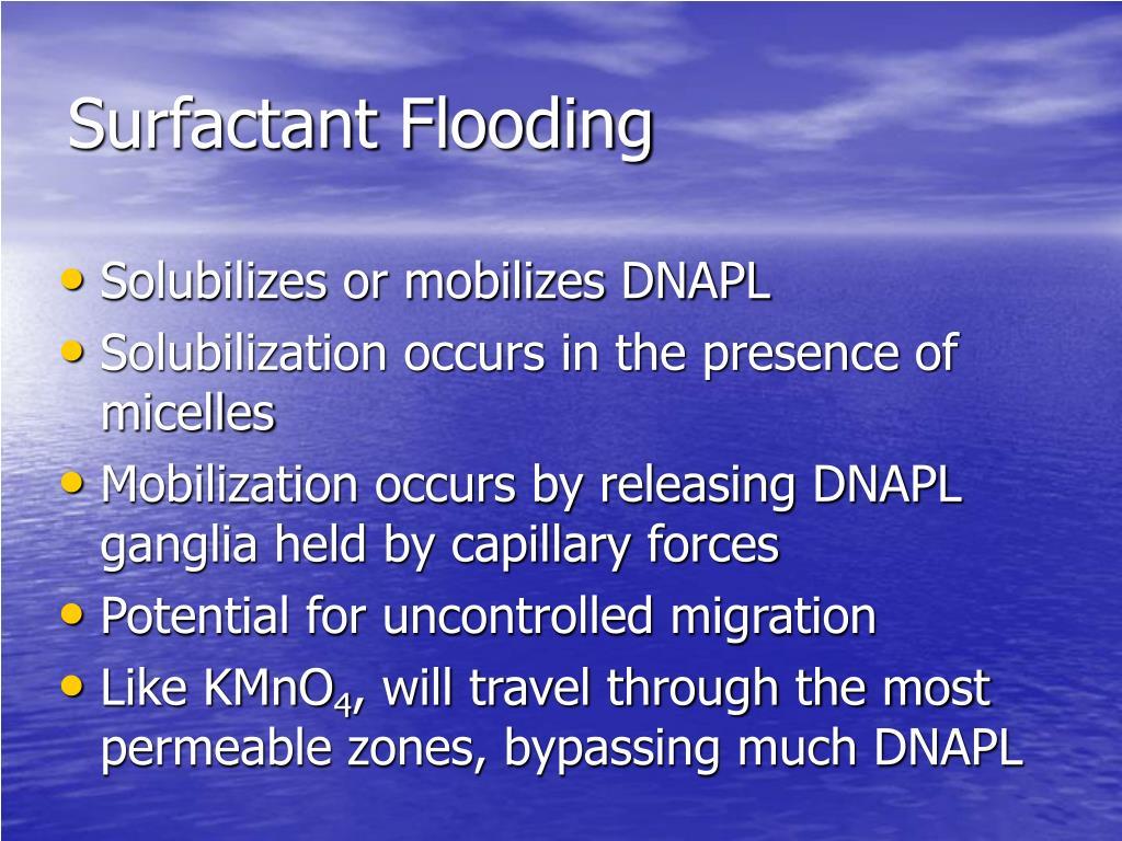 Surfactant Flooding