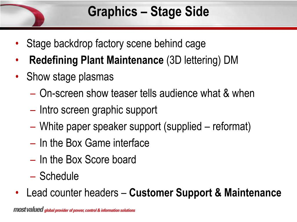 Graphics – Stage Side