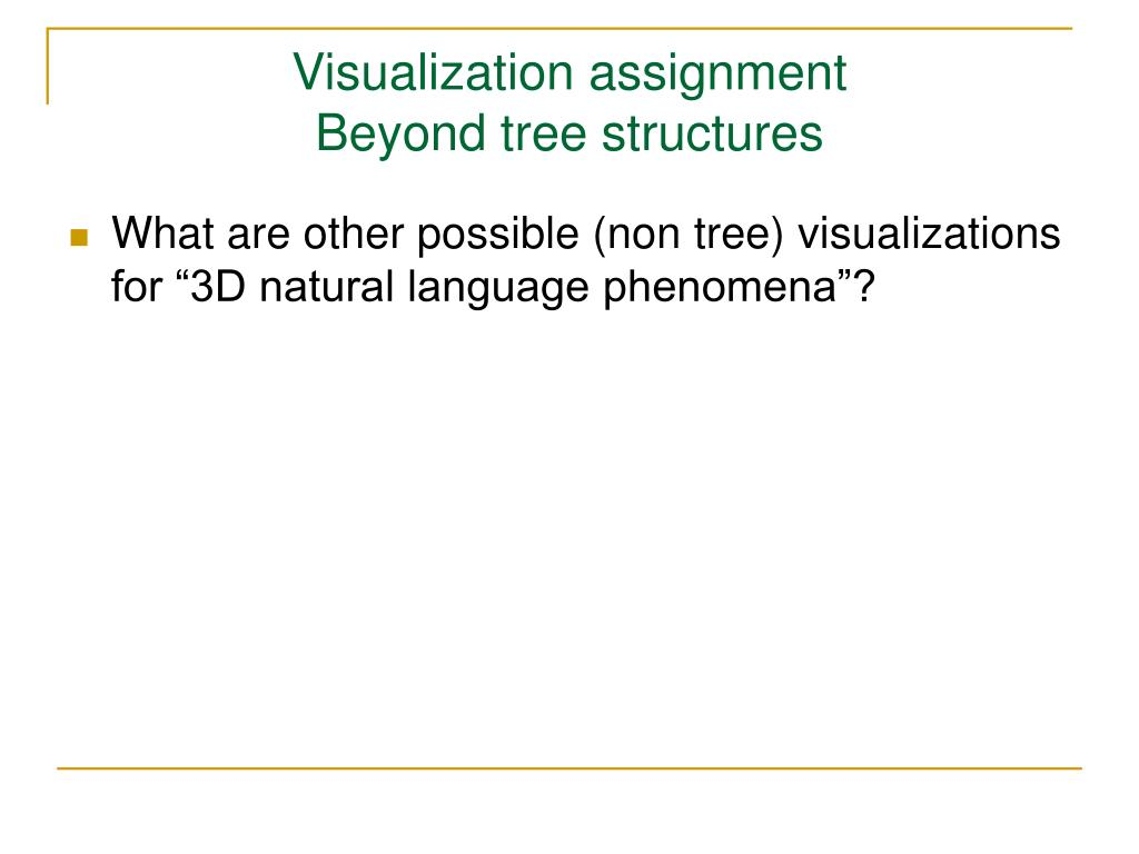 Visualization assignment