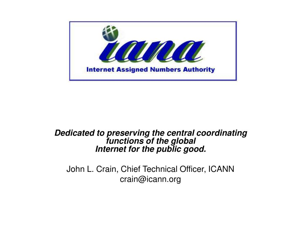 Dedicated to preserving the central coordinating functions of the global