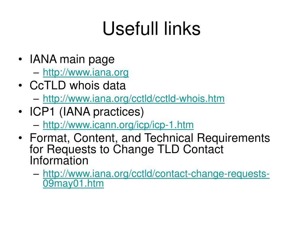 Usefull links