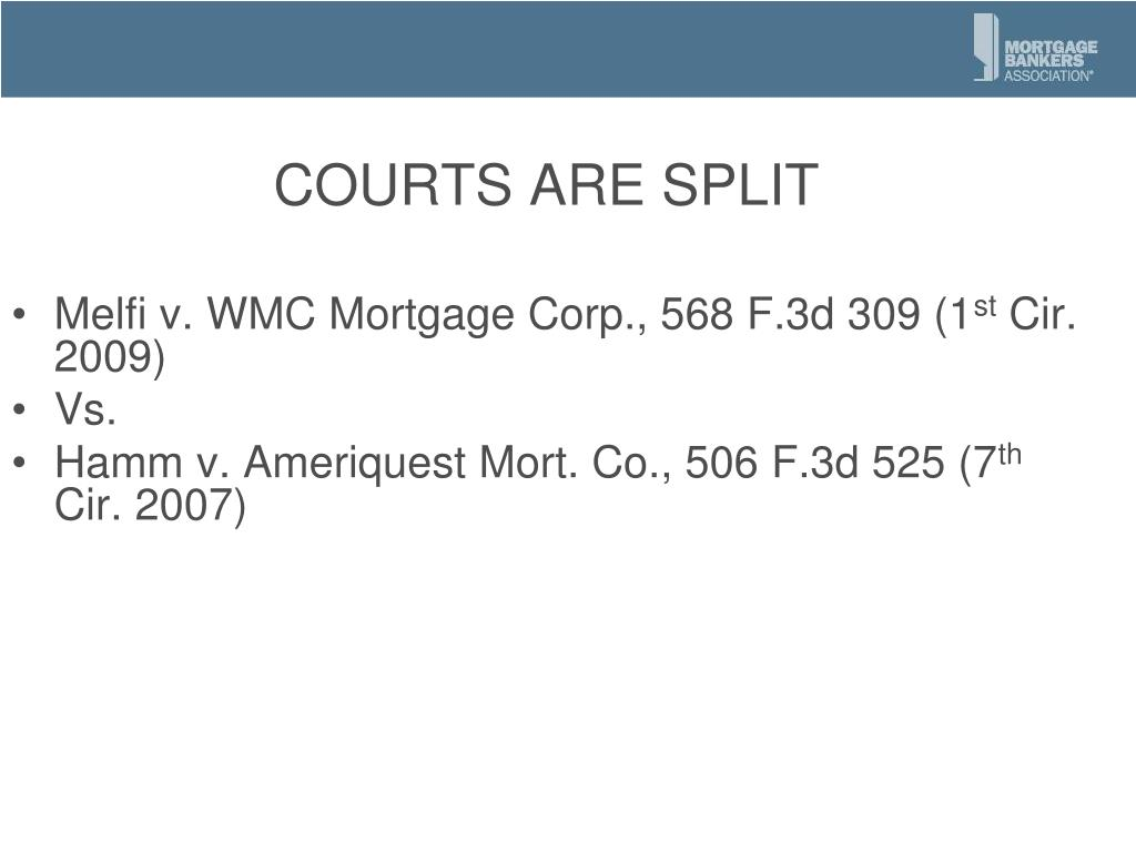 COURTS ARE SPLIT