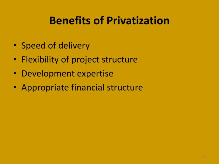 privatisation advantages privatisation