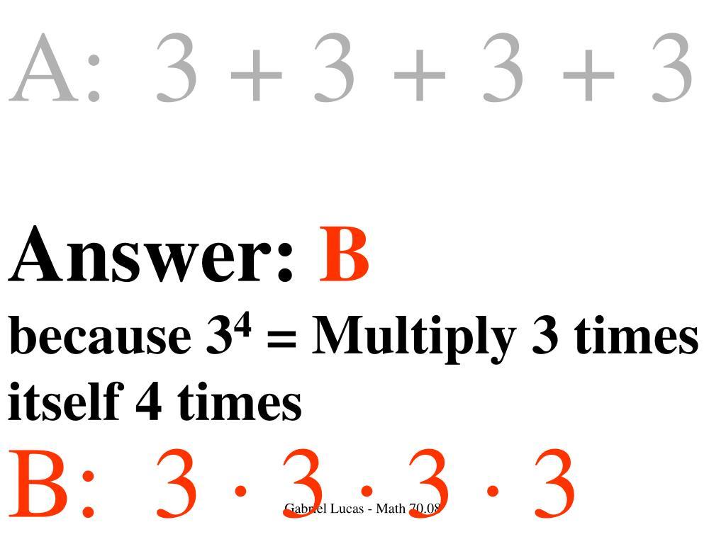 A:3 + 3