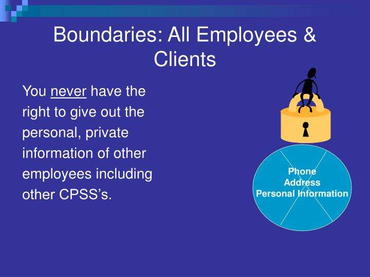 Boundaries: All Employees & Clients