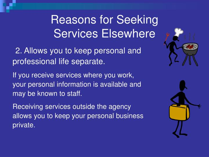 Reasons for Seeking