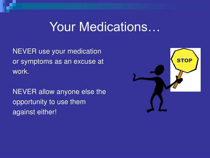 Your Medications…