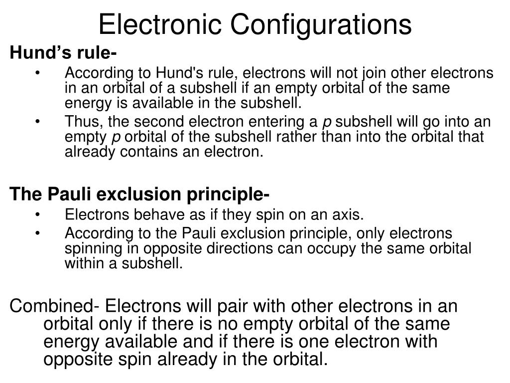 Electronic Configurations