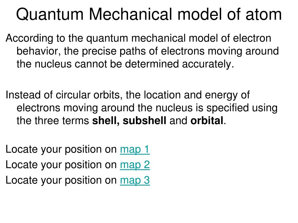 Quantum Mechanical model of atom