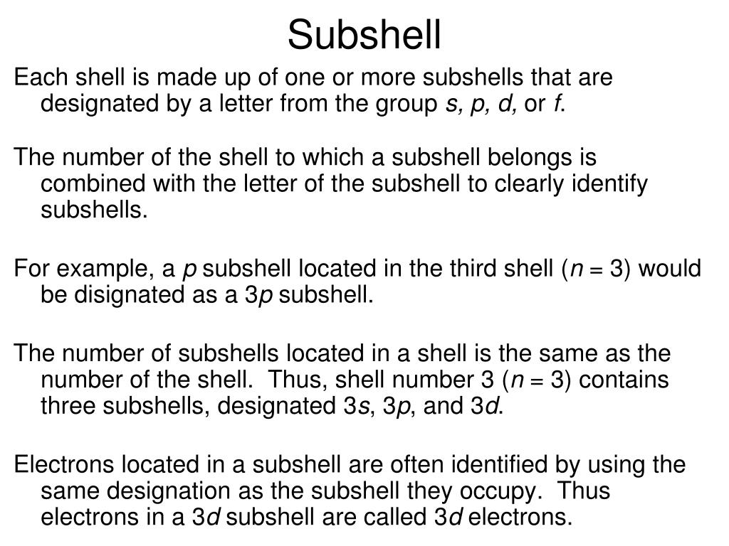 Subshell
