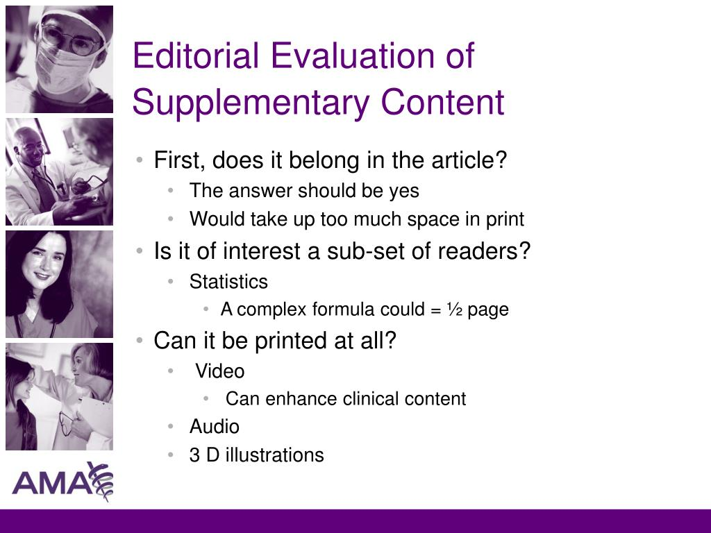 Editorial Evaluation of