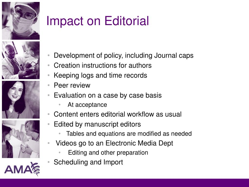 Impact on Editorial