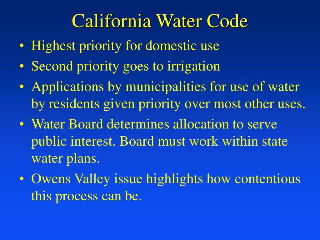 California Water Code