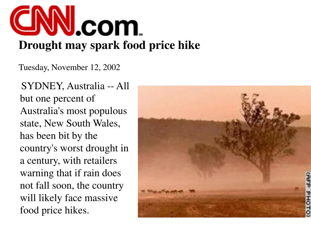 Drought may spark food price hike