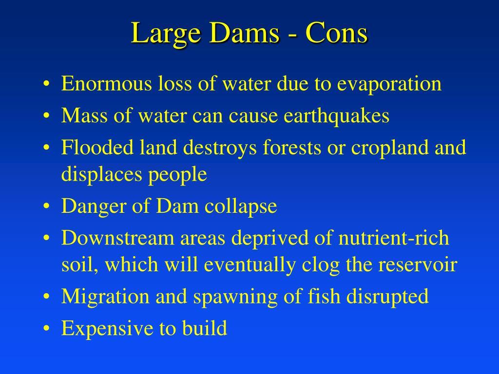 Large Dams - Cons