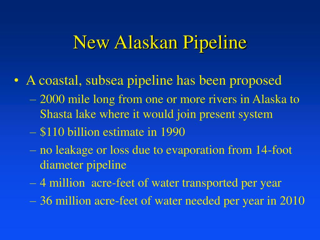 New Alaskan Pipeline