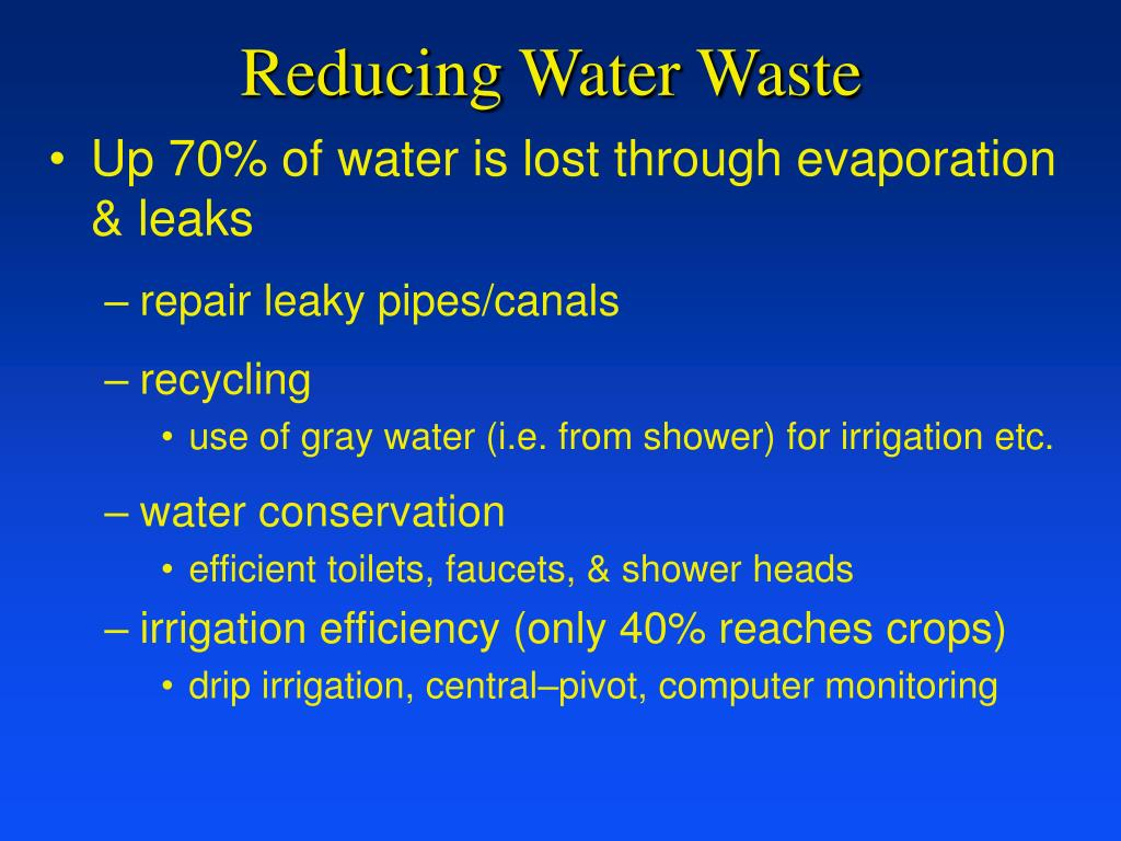 Reducing Water Waste