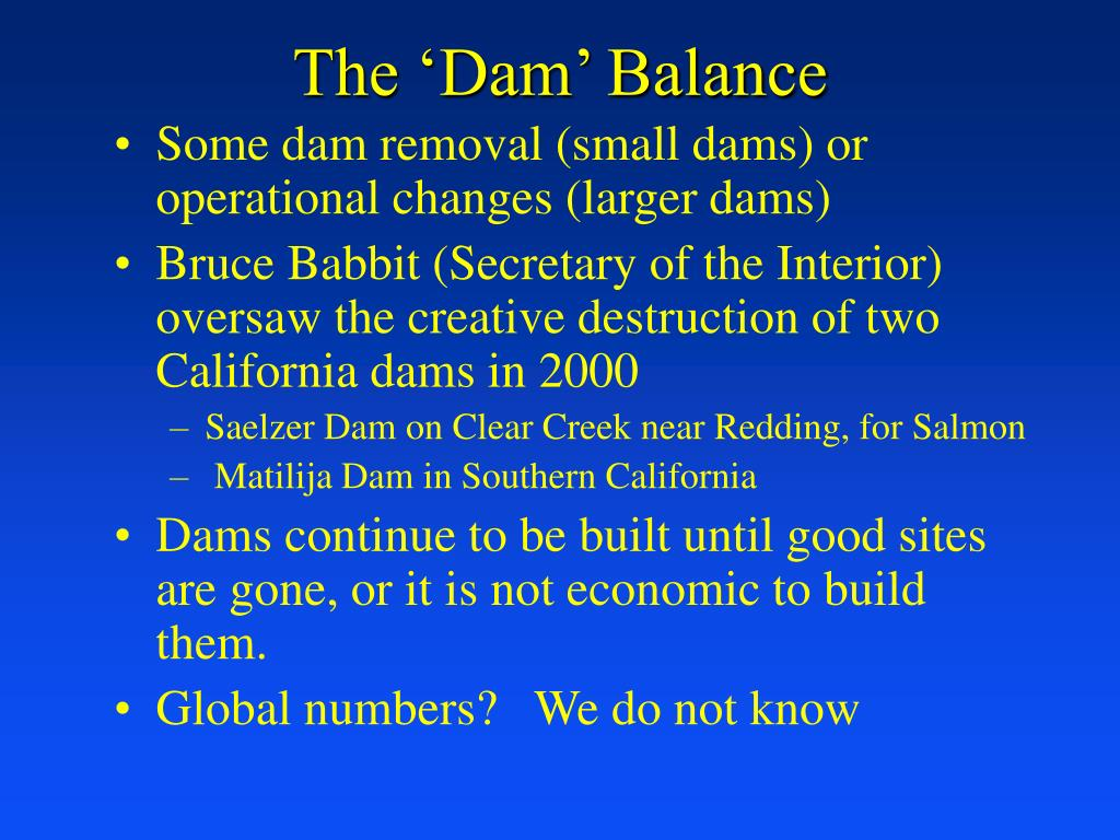 The 'Dam' Balance