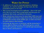 water for power