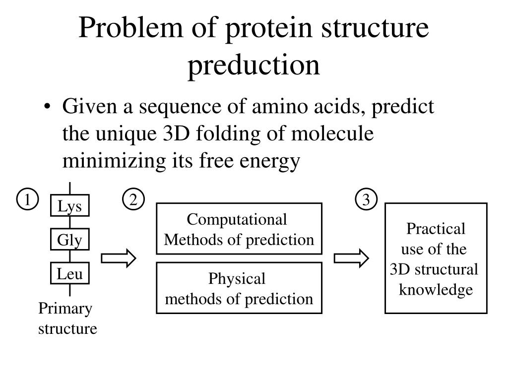 Problem of protein structure preduction