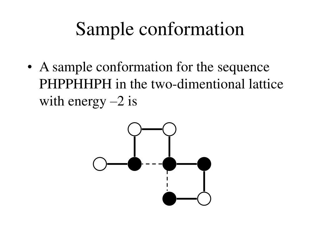 Sample conformation