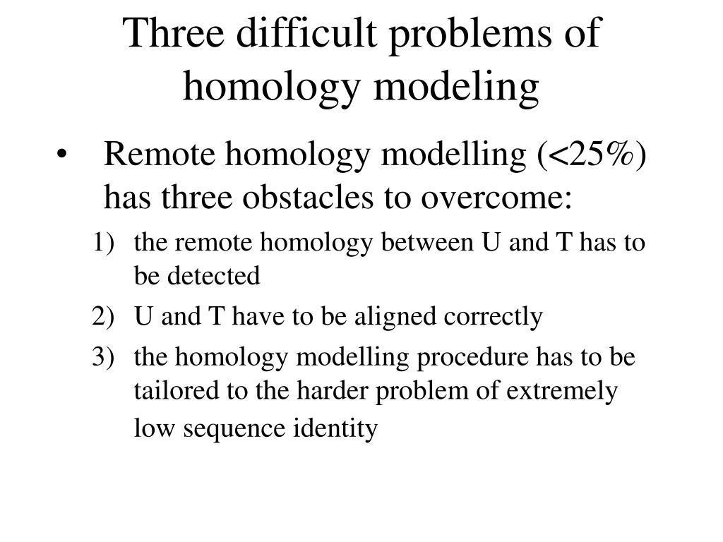 Three difficult problems