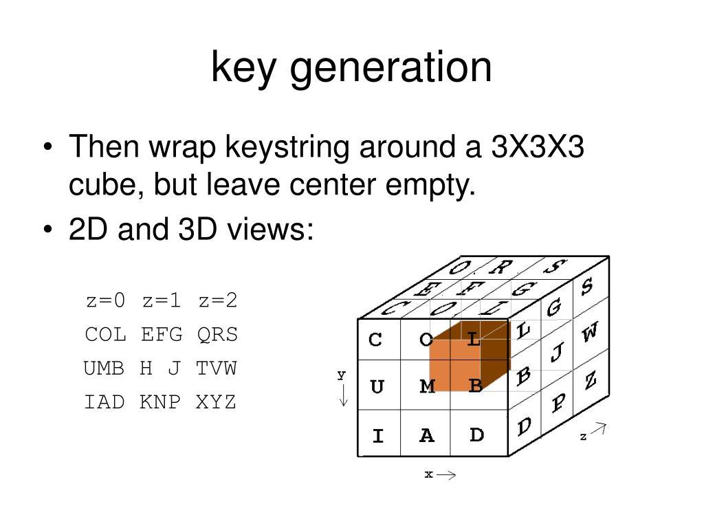 key generation