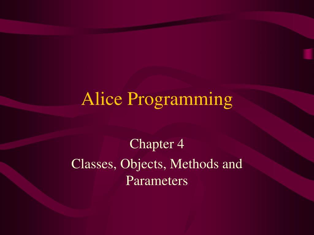 Alice Programming